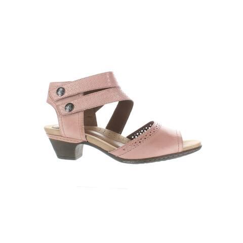 Rockport Womens Abbott Pink Ankle Strap Heels Size 8.5