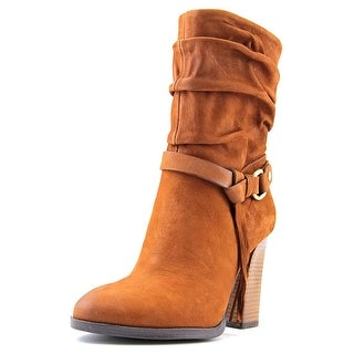 Guess Tasmin Women  Round Toe Leather Brown Ankle Boot