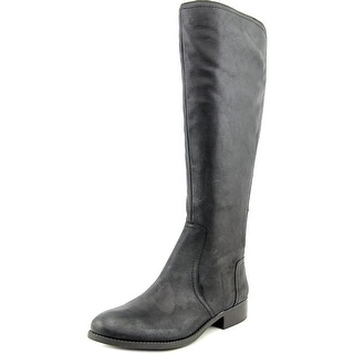 Jessica Simpson Randee Wide Calf Women Round Toe Synthetic Black Knee High Boot