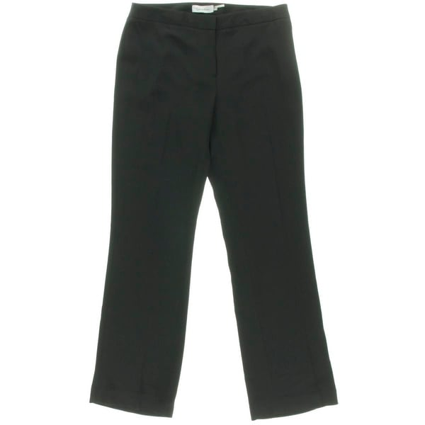 Calvin Klein Womens Petites Dress Pants Solid Stretch