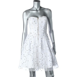 Blondie Nites Womens Juniors Tulle Sequinned Party Dress