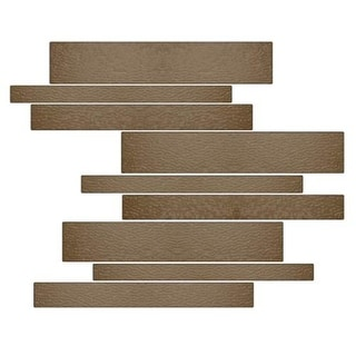 Miseno MT-G1SMOK Horizontal Mosaic Wall Tile (10.92 SF / Carton)