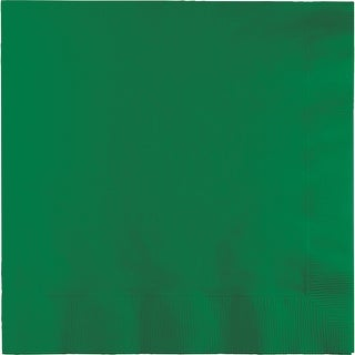 """Club Pack of 240 Emerald Green Disposable Beverage Napkins 6.5"""" - N/A"""