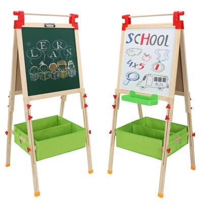 """Children Magnetic Standing Art Easel with Non-Woven Storage - (28.15 x 22.44 x 3.15)"""""""