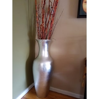 Lacquer 36-inch Tall Vase with Branches