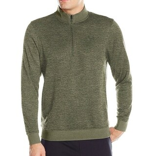 Under Armour Green Mens Size Large L 1/2 Zip Mock-Neck Sweater