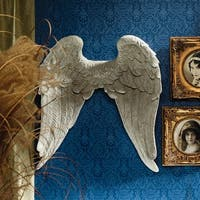 Design Toscano Heavenly Guardian Angel Wings Wall Sculpture - 23.5 x 7 x 26.5