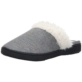 Isotoner Womens Kenzie Memory Foam Heel Cushion Clog Slippers - M