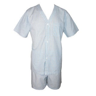 Geoffrey Beene Men's Broadcloth Short Sleeve Short Leg Pajama Set