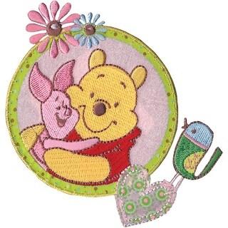 Disney Winnie The Pooh Iron-On Applique-Piglet & Pooh - piglet & pooh