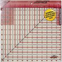 """12-1/2""""X12-1/2"""" - The Cutting Edge Frosted Ruler"""