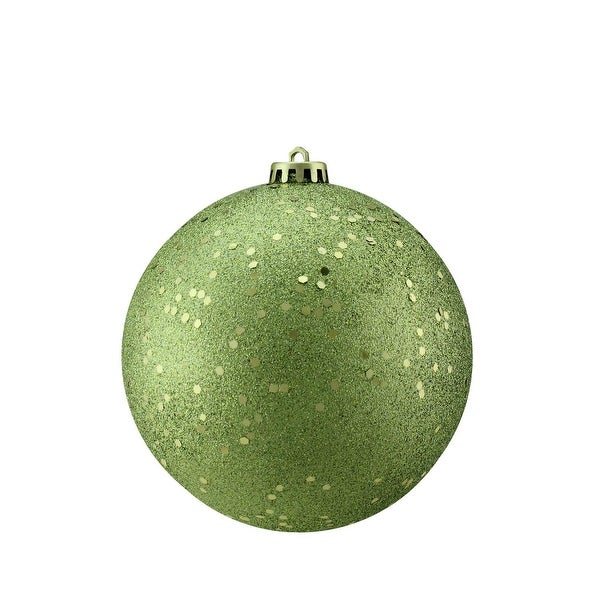 "Green Kiwi Holographic Glitter Shatterproof Christmas Ball Ornament 6"" (150mm)"