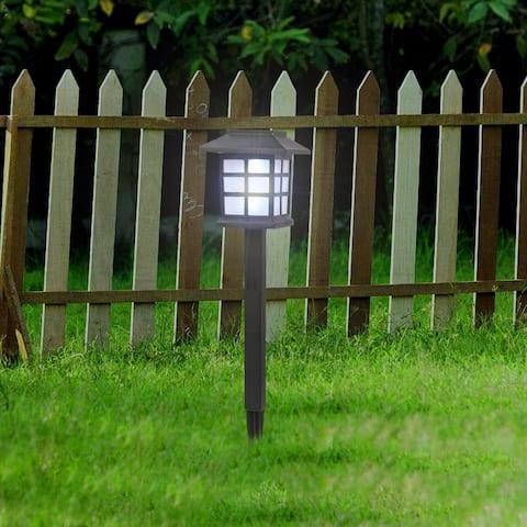 6pcs White LED Solar Lantern Torch Light Garden Landscape Lighting