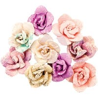 Prima Marketing Moon Child Mulberry Paper Flowers 9/Pkg-Crescent Moon