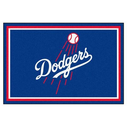 MLB - Los Angeles Dodgers Script 5ft. x 8 ft. Plush Area Rug - 5' x 8'/Surplus - 5' x 8'/Surplus
