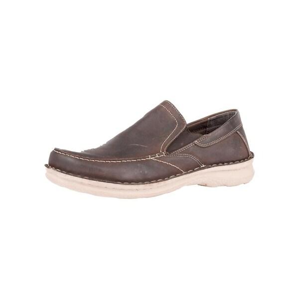 Roper Western Shoes Mens Round Slip On Dark Brown