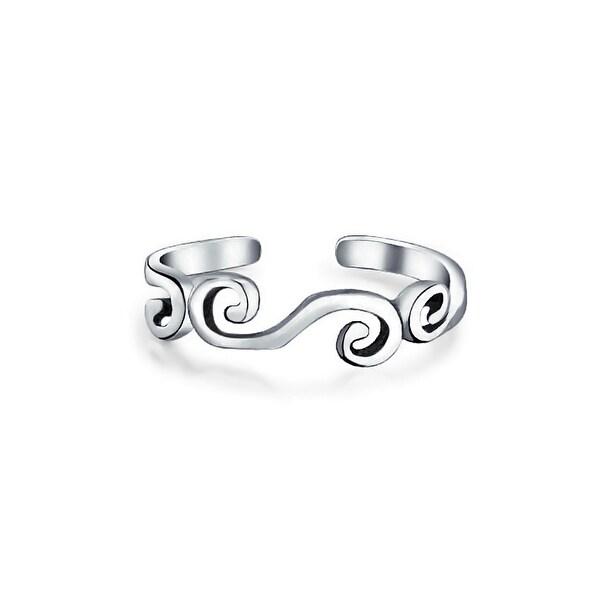 Thailand Sterling Silver Rings V Shape Gem Toe Finger Open Ring