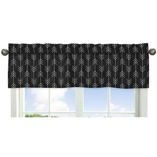 Black And White Woodland Arrow Collection Window Curtain Valance Rustic Country Farmhouse Lumberjack Overstock 31459880