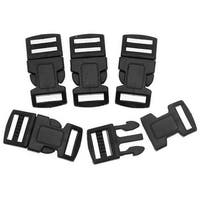 Paracord / Parachute Cord Black Plastic Buckles 15mm / 0.6 Inches (5 Sets)