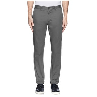Theory Zaine Kentwood Slim Fit Flat Front Pants Dove Grey 33W - 33