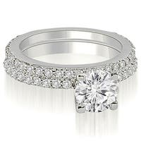 1.26 cttw. 14K White Gold Round Cut Diamond Bridal Set