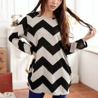 Striped Wave Loose T-Shirt