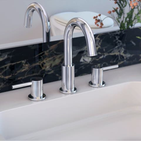 St. Lucia Collection widespread bathroom faucet. Chrome finish. By Lulani