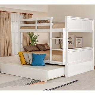 Link to Taylor & Olive Vervain Full-over-Full Bunk Bed with Trundle Similar Items in Kids' & Toddler Beds