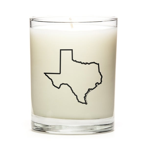 State Outline Candle, Premium Soy Wax, Texas, Fine Bourbon