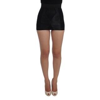 Dolce & Gabbana Dolce & Gabbana Black Bodycon Skirt Stretch Shaper Shorts - it40-s