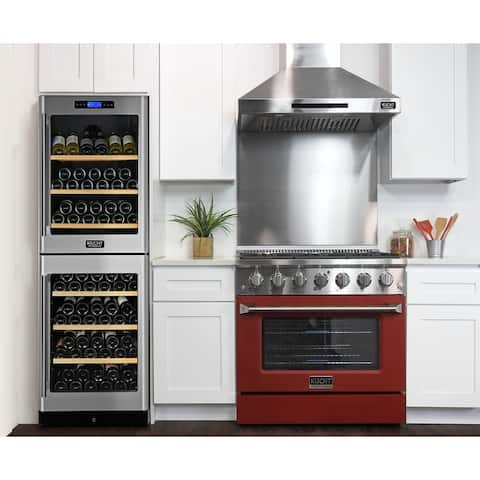 KUCHT 36 in. 5.2 cu. ft. Natural Gas Range with Sealed Burners and Convection Oven with optional color door.