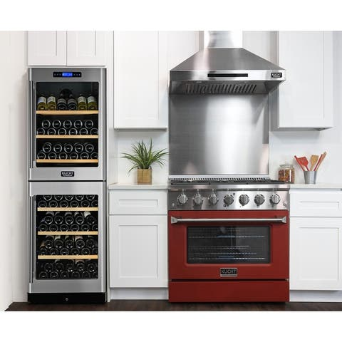 KUCHT 36 in. 5.2 cu. ft. Propane Gas Range with Sealed Burners and Convection Oven with interchangeable color door.