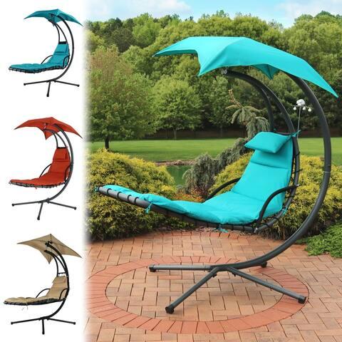 Sunnydaze Oversized Zero Gravity Lounge Chair & Cup Holder - Multiple Options - Single
