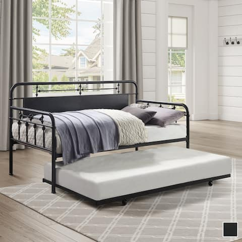 Reid Metal Daybed with Trundle