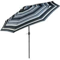 Sunnydaze 9-Foot Aluminum Patio Umbrella with Push Button Tilt & Crank