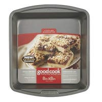 "Good Cook 04017 Non-stick Square Cake Pan, 8"" x 8"""