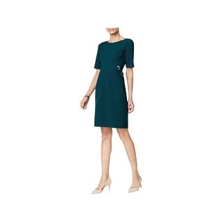 Jessica Howard Womens Petites Cocktail Dress Embellished Above Knee
