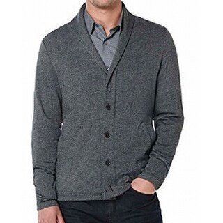 Perry Ellis NEW Dark Gray Mens Size XL Button-Front Cardigan Sweater