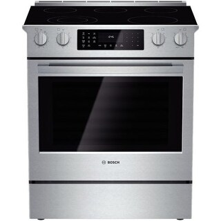 Bosch HEI8054U 30 Inch 4.6 Cu. Ft. Electric Slide-In Range with European Convection from the 800 Series - Stainless Steel