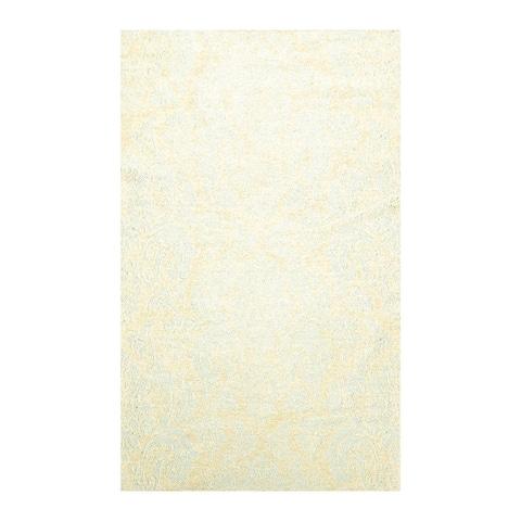 Hand Woven Beige,Aqua Flat Weave Cotton Modern & Contemporary Oriental Area Rug (4x6) - 3' 11'' x 5' 11''