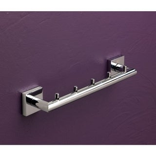 """Bissonnet 753110 Quaruna 11-2/5"""" Wall-Mounted Towel Bar with 5 Hooks - n/a"""