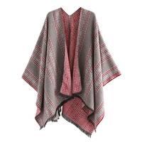 QZUnique Women Sweater Shawl Batwing Sleeve Cardigan Cloak Poncho Wrap