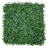 Costway 12 Artificial Hedge Plant Privacy Fence Screen Topiary Decorative Wall 20'' x 20'' - Green