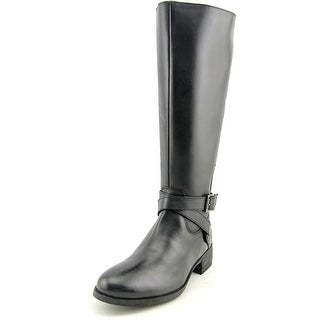Matisse Destry Wide Calf Women W Round Toe Leather Black Knee High Boot