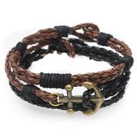 Braided Cord Bracelet Trio (Black/Brown) - Exclusive Beadaholique Jewelry Kit