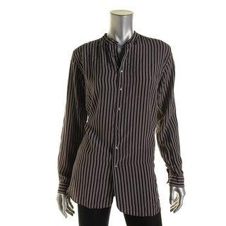 Polo Ralph Lauren Womens Button-Down Top Silk Striped (Option: S)
