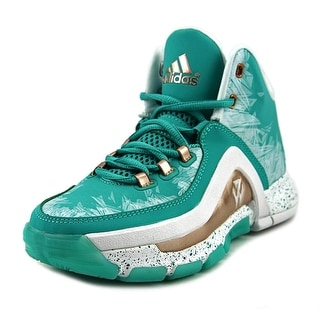 Adidas J Wall 2 J Youth Round Toe Synthetic Green Basketball Shoe