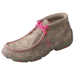 Twisted X Casual Shoes Boys Girls Kid Driving Mocs Tan Pink YDM0007