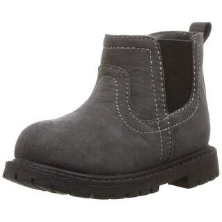 Carter's Kids Boy's Cooper3 Grey Chelsea Boot Fashion