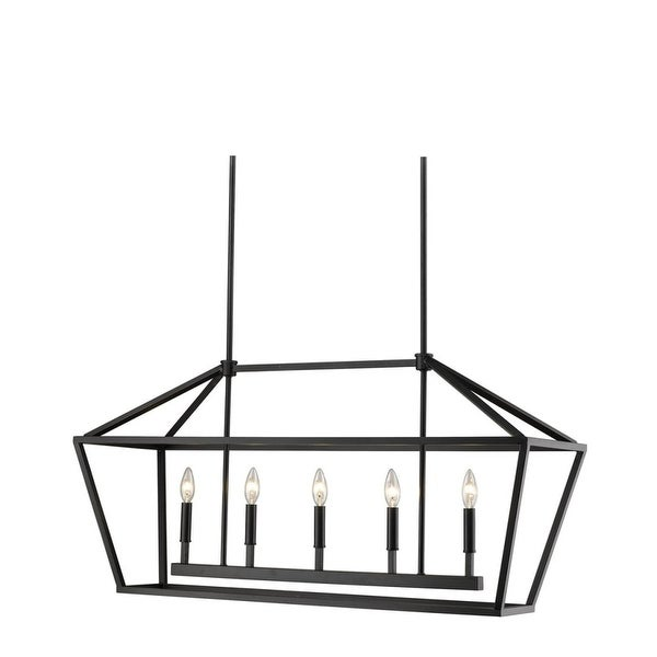 "Millennium Lighting 3245 Corona 5-Light 40"" Wide Linear Taper Candle Chandelier - n/a"